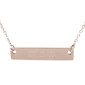 Picture of Rose Gold 'Mom' Bar Necklace - 16""